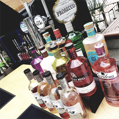 PopUp Prosecco - our amazing array of gins
